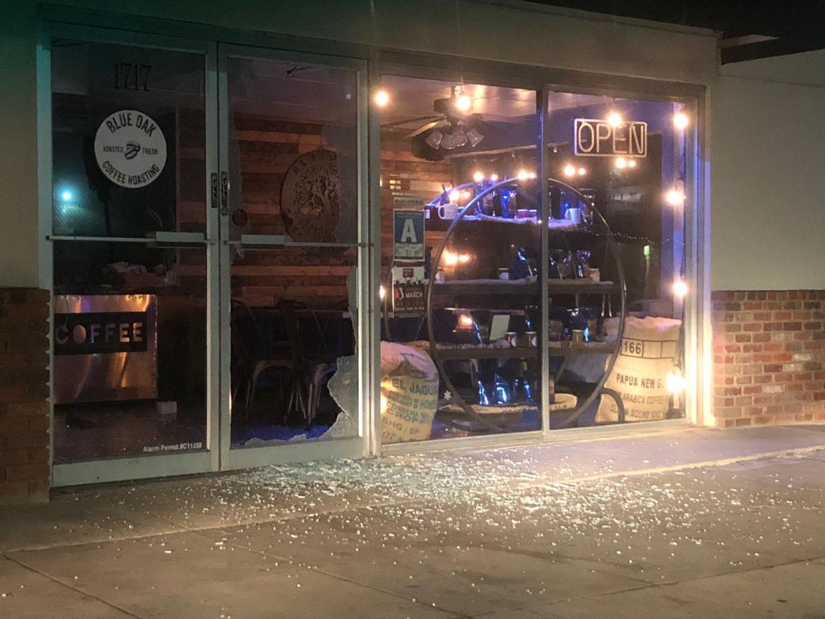 Blue Oak Coffee Roasting was vandalized in January 2018