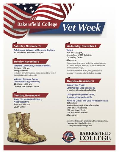 Bakersfield Vet Week flyer