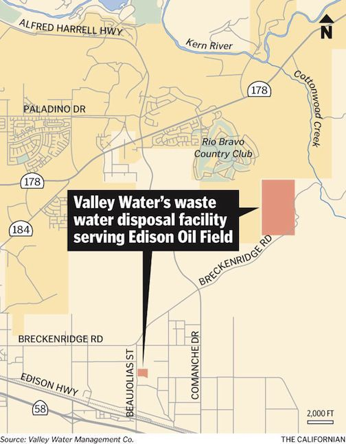 Valley Water's former wastewater disposal facility serving the Edison Oil Field