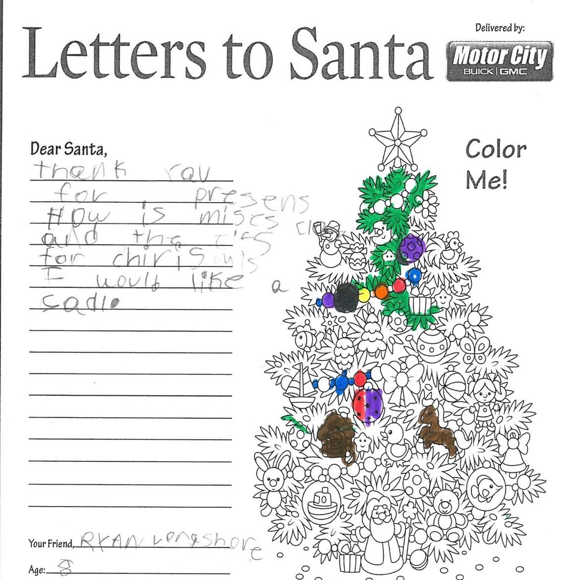 Letters to santa readers delight us with their christmas wishes ryang spiritdancerdesigns Images