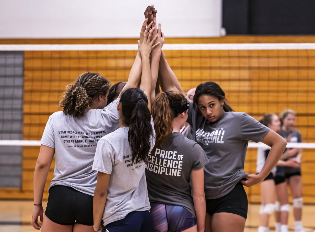 Stockdale High volleyball practice
