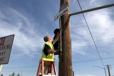 Pole signs