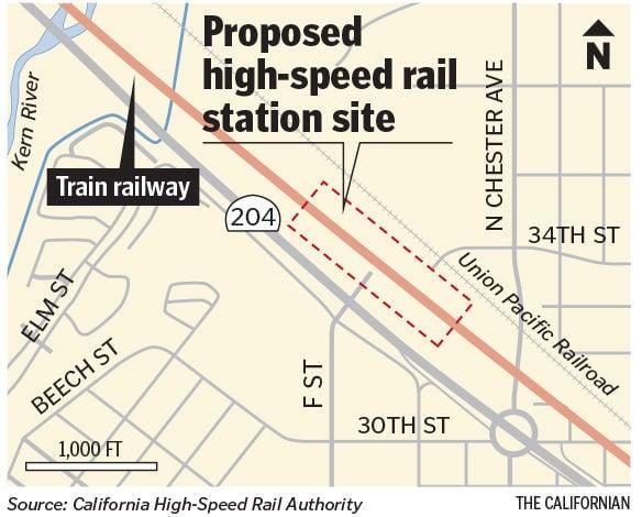 Bakersfield High Speed Rail F St station