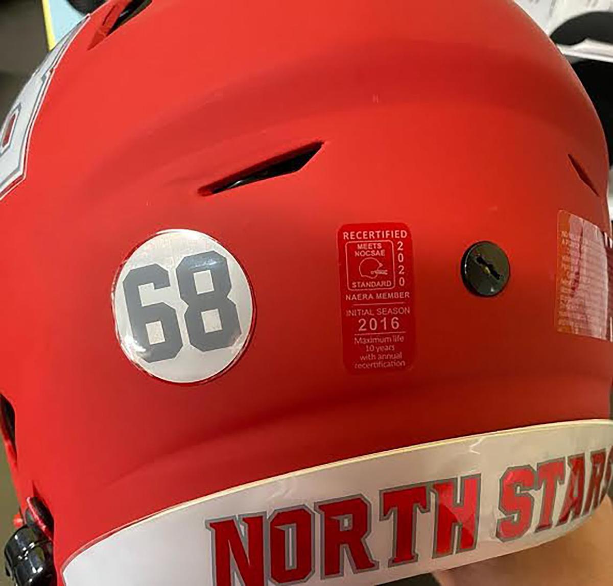 Burch helmet sticker