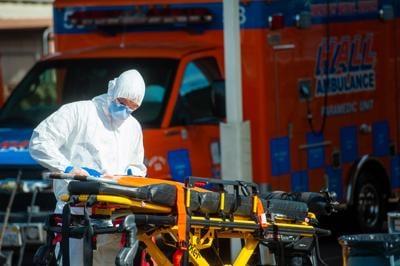 Hall Ambulance Decontamination Press Conference (copy)