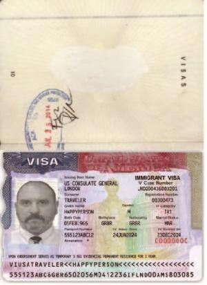 Sample U.S. Customs and Border Protection endorsement