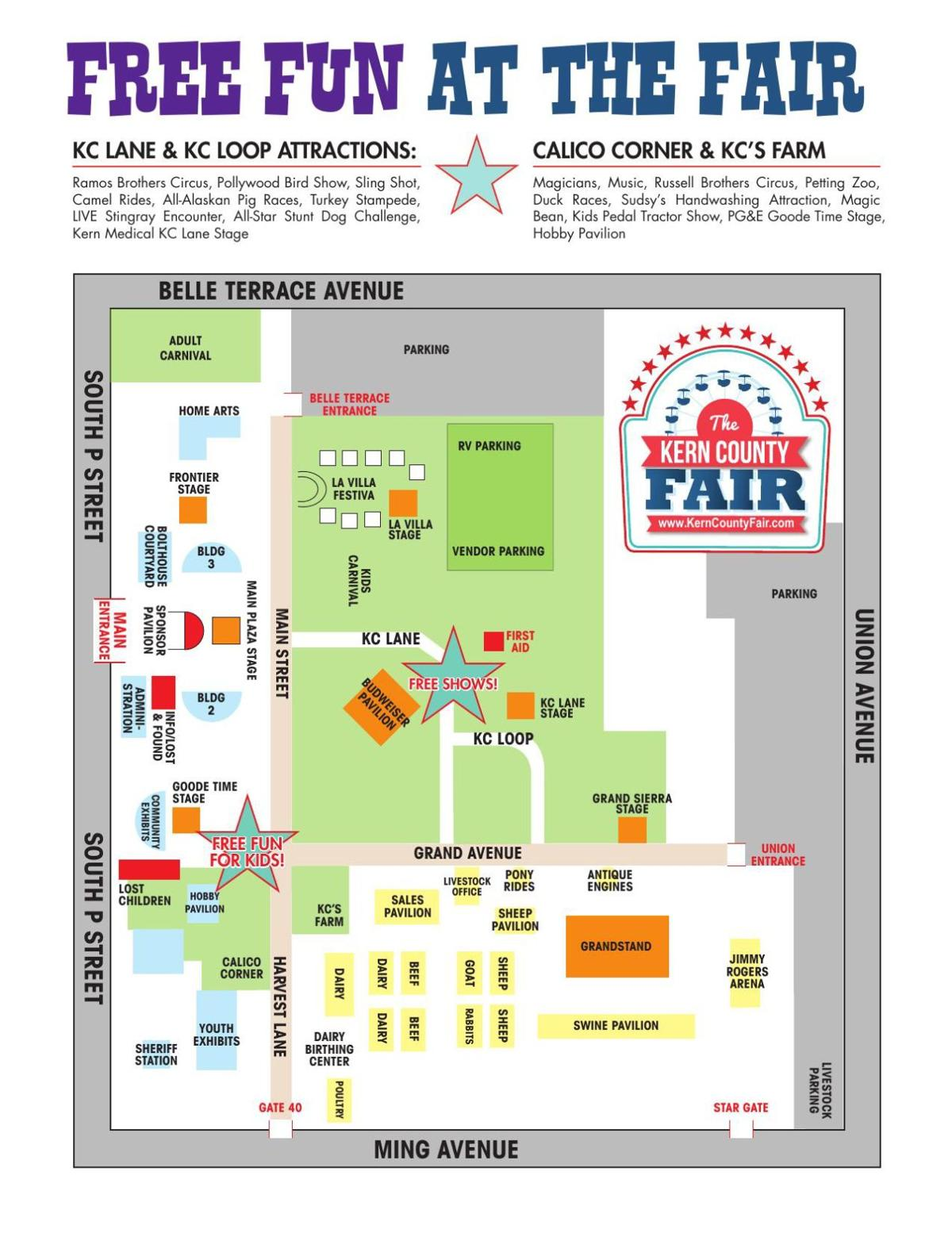 Check out a map of the Kern County Fair