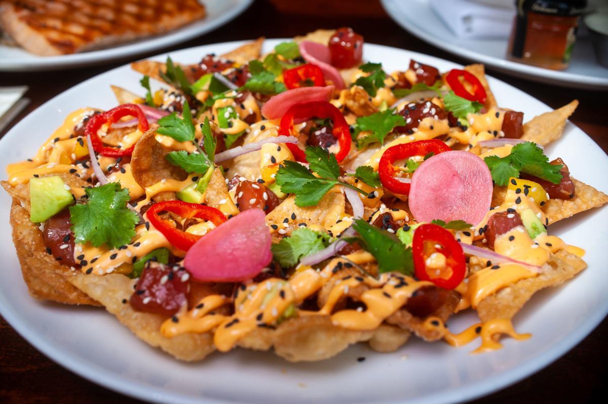 Ahi poke nachos