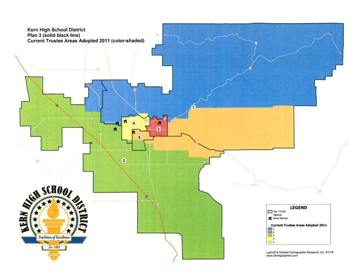 KHSD trustees vote 5-0 for map plan 3, sure to anger many in south Kern