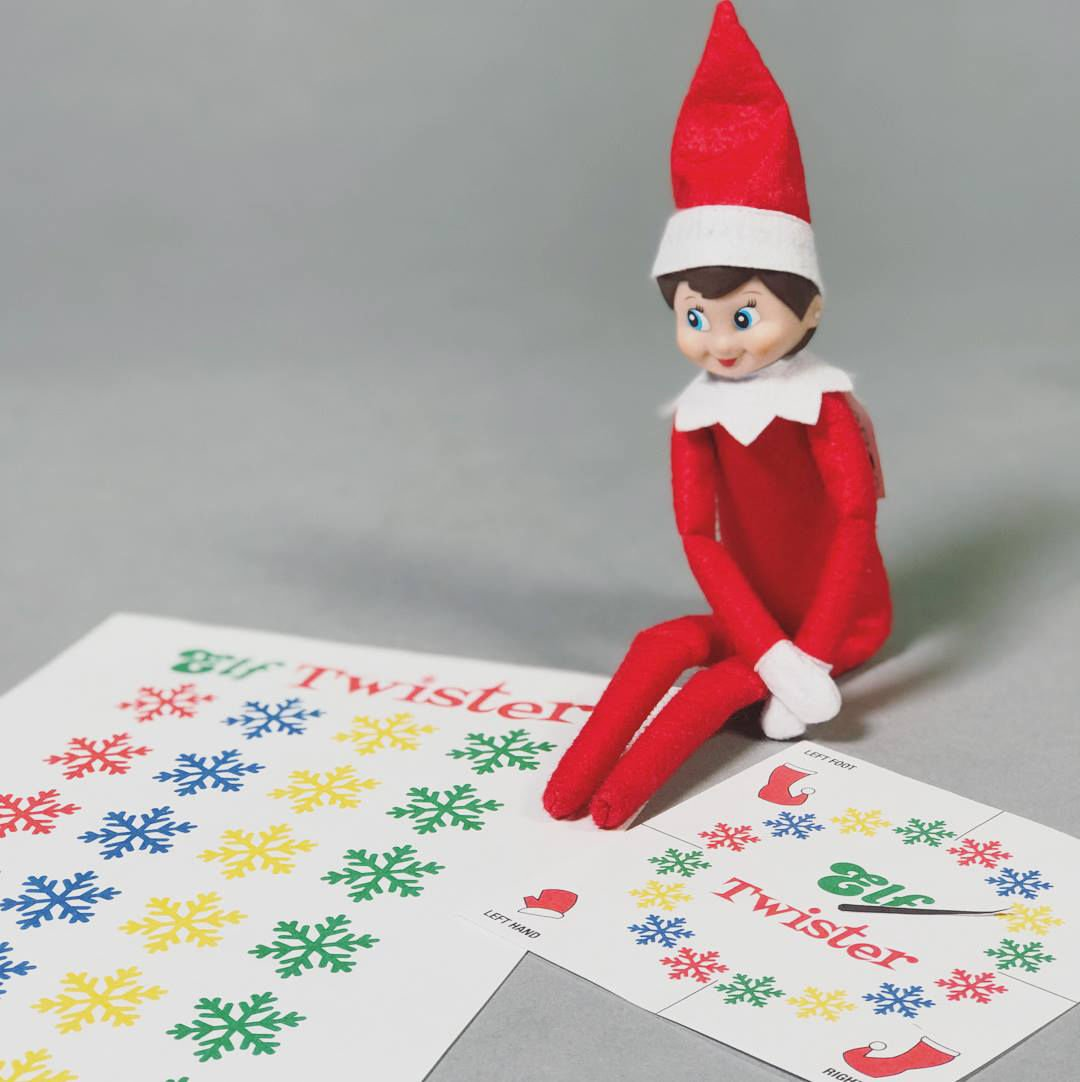 picture relating to Twister Spinner Printable named Support the Elf with imaginative printouts Leisure