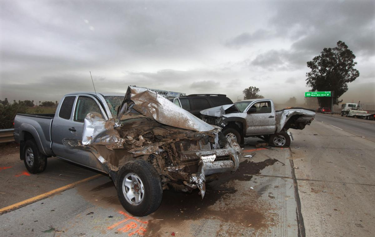Wind And Dust Contributed To A Multi Vehicle Accident That Happened On Southbound Hwy 99 Just North Of The Bear Mt Blvd Exit Initial Reports Say Up 23