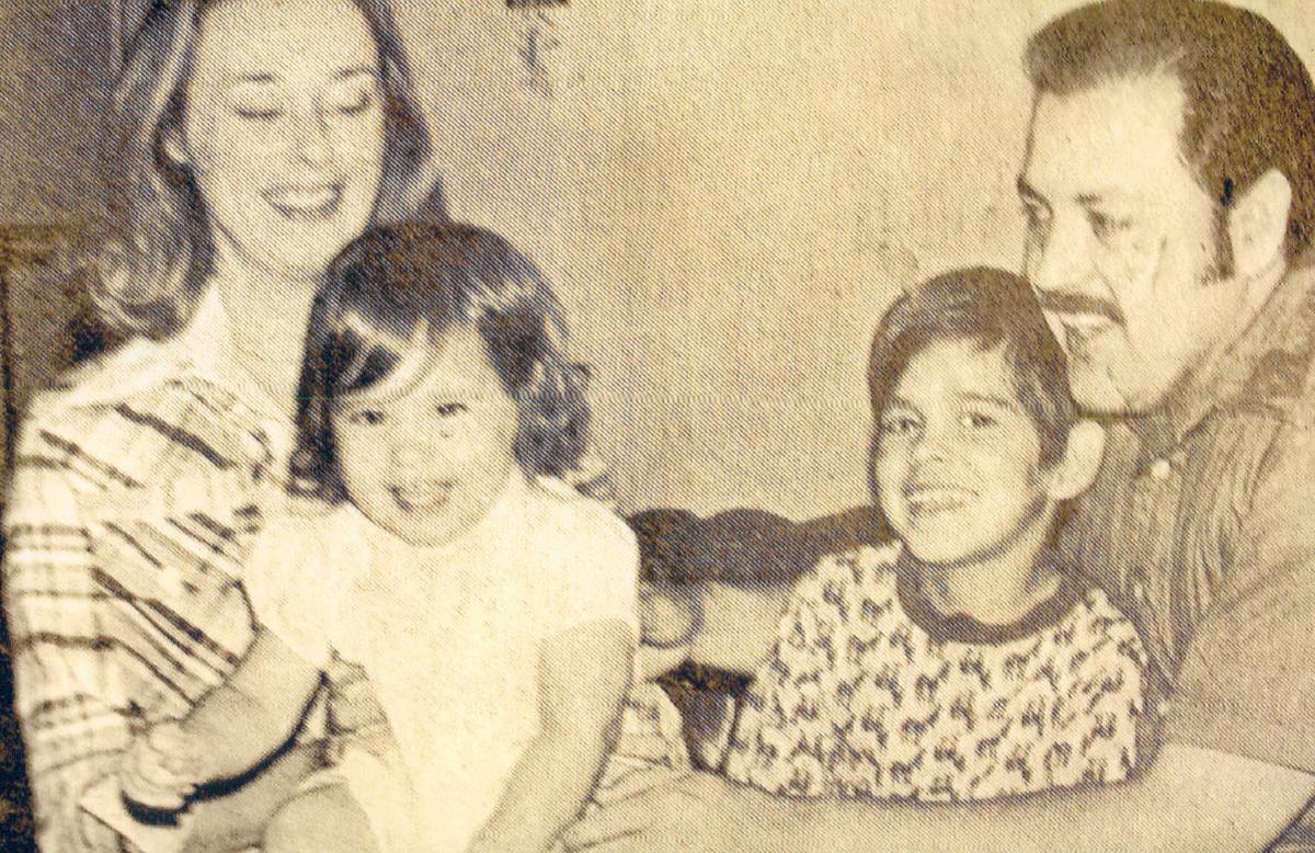Ray Gonzales with his wife, Judy, and kids Paul and Emily