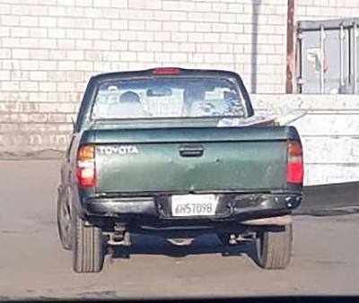 GIC Transport Suspect Vehicle