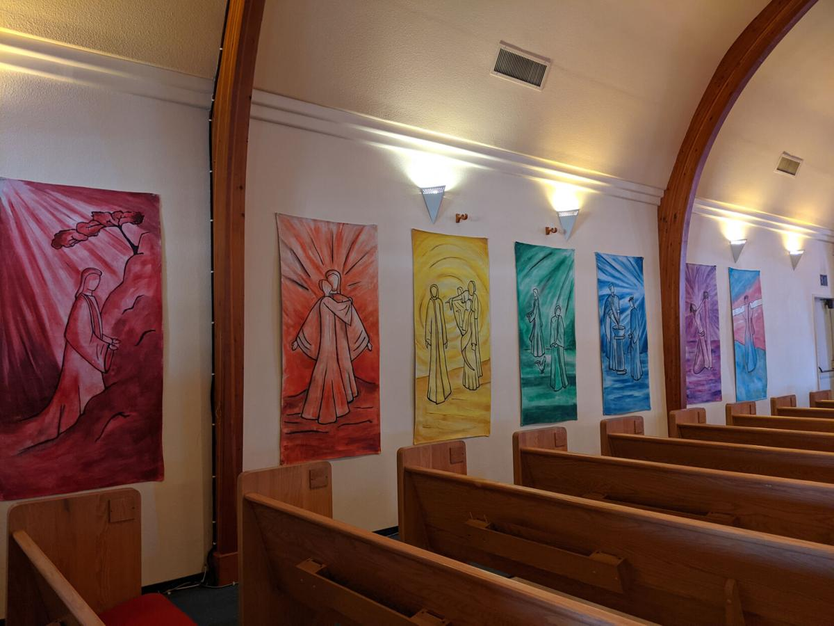 stations of the cross- hung of walls of Emmanuel Lutheran Ch