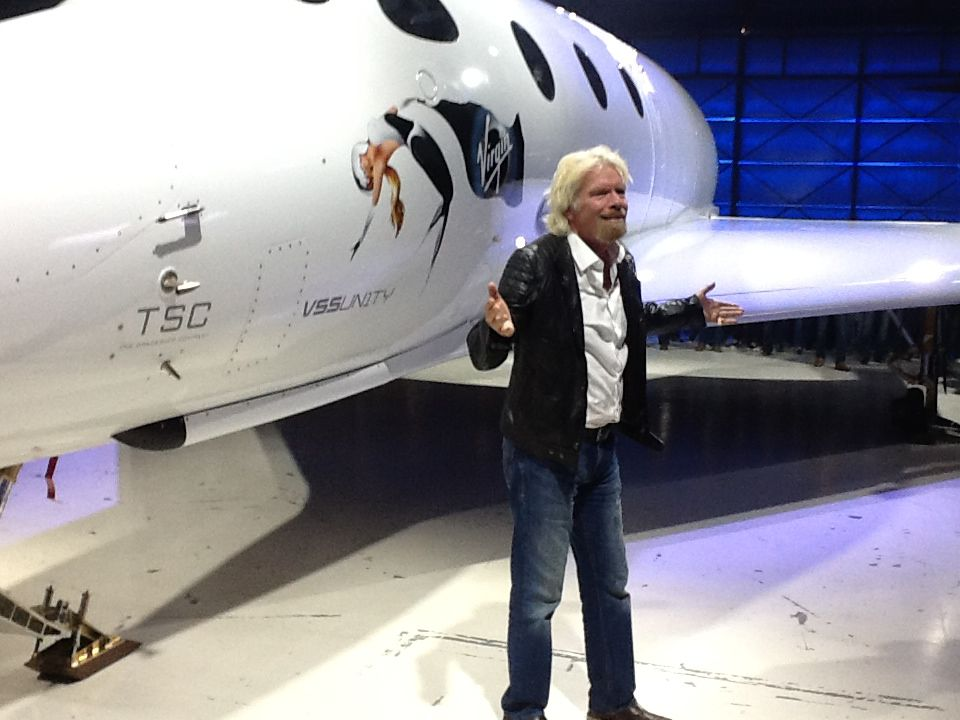 Branson shows off Virgin Galactic's SS2