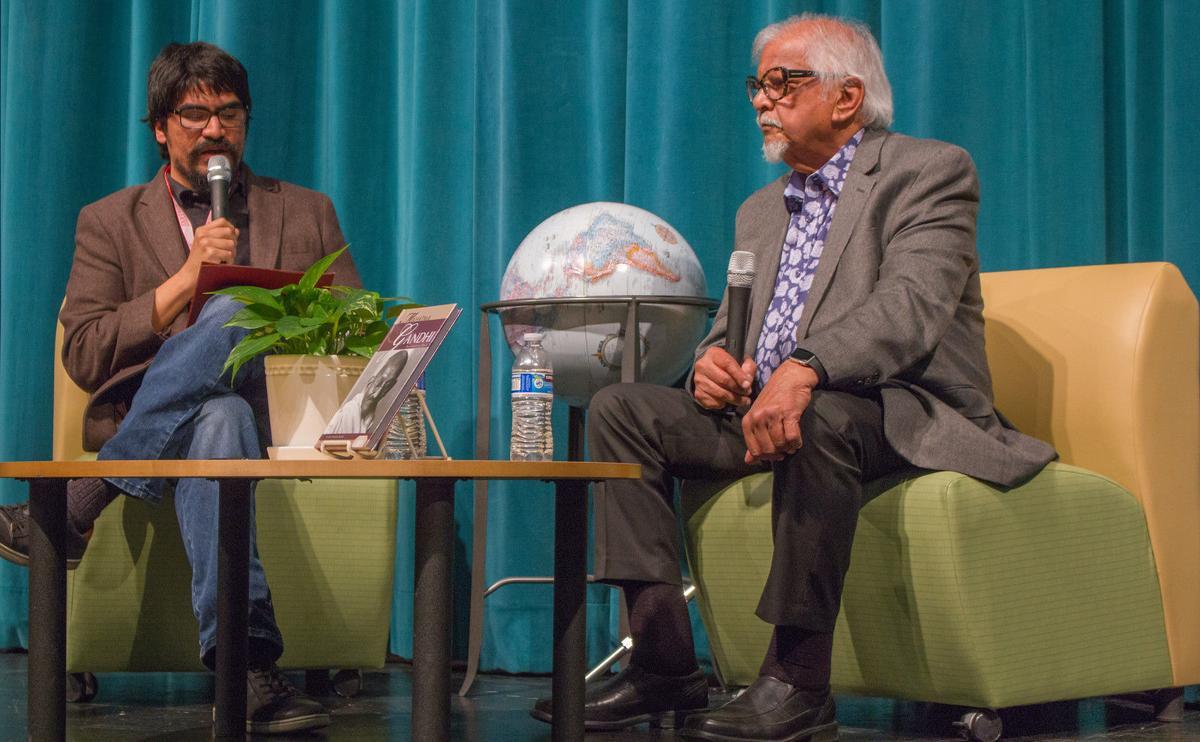 Dr Oliver Rosales and Arun Gandhi