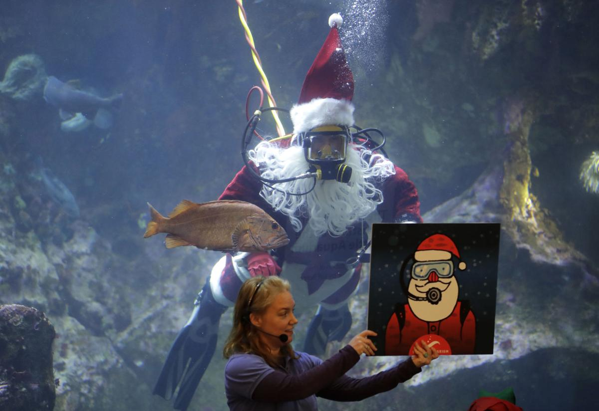 APTOPIX Diving Santa