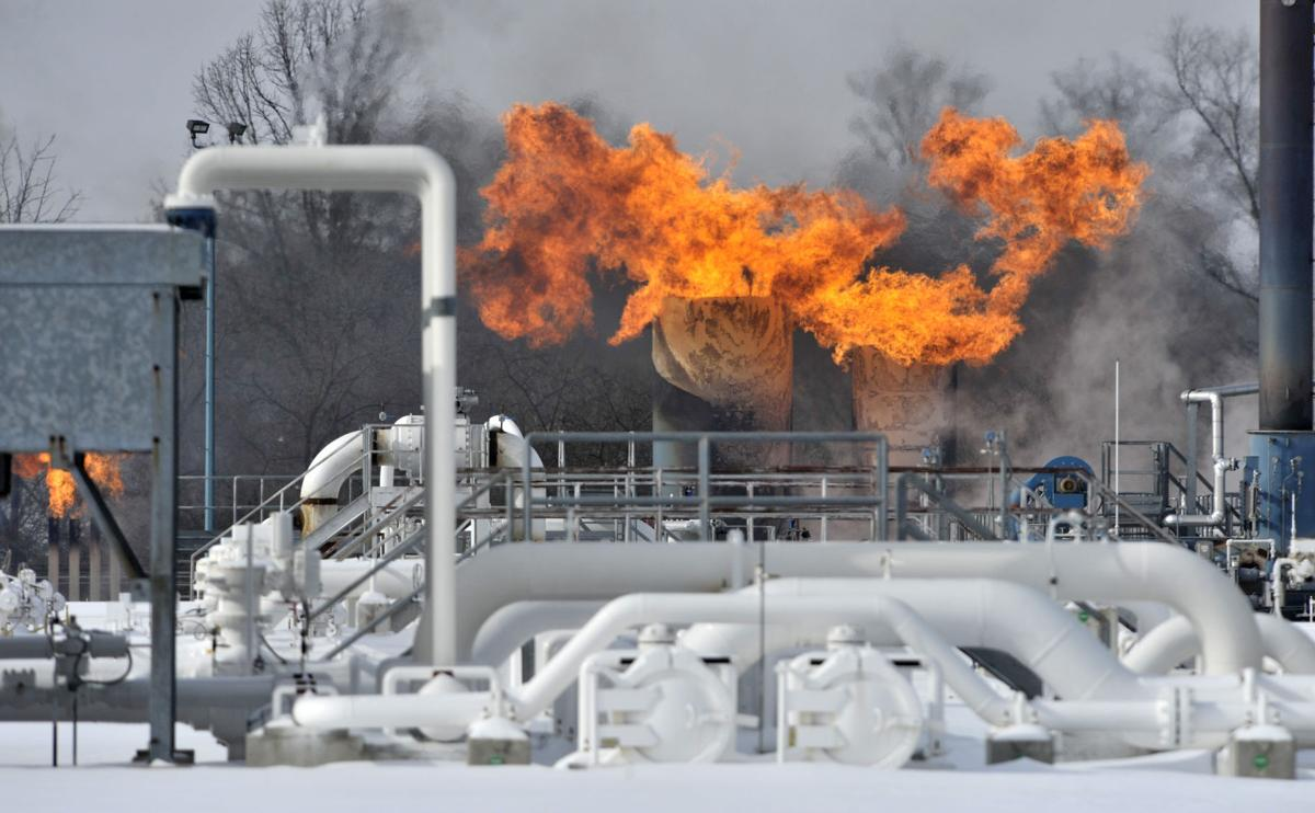 Winter Weather-Gas Compressor Fire
