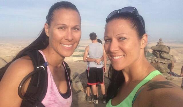 Jamie Ratzlaff and Amy Errecalde hike