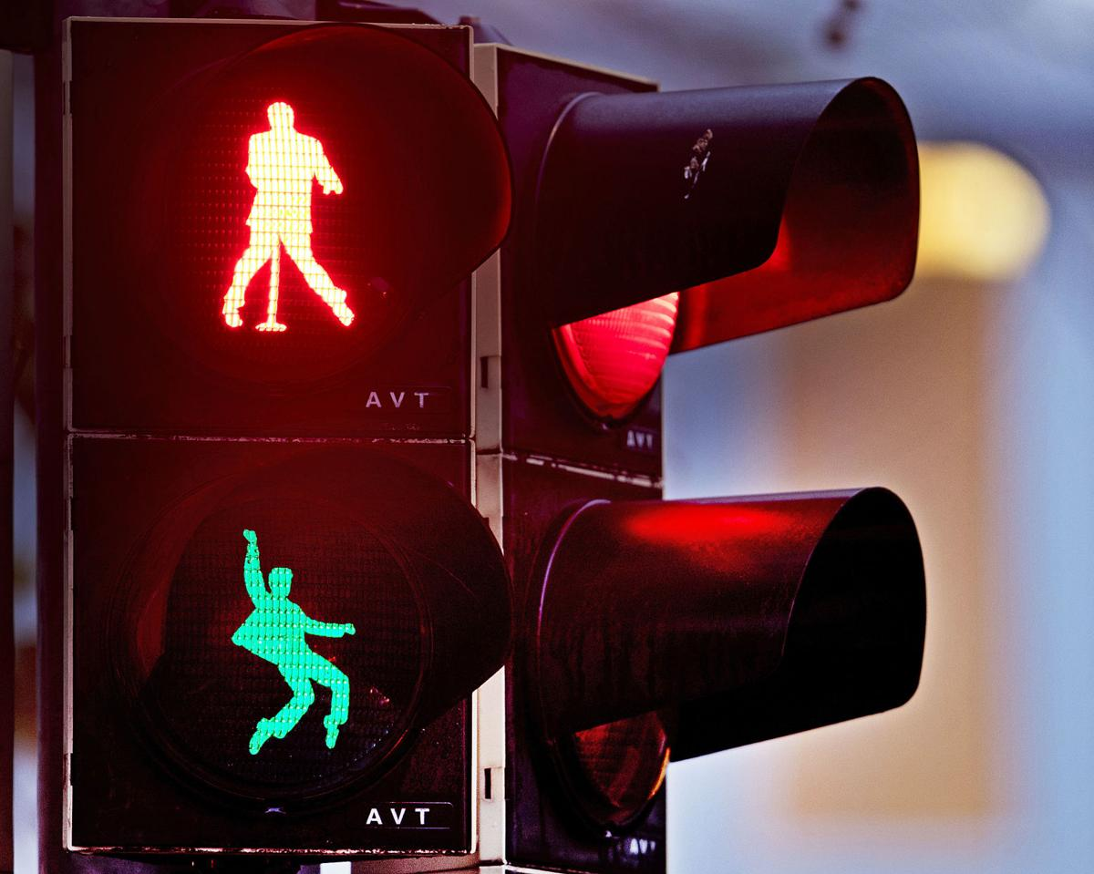 APTOPIX Germany Traffic Light Elvis