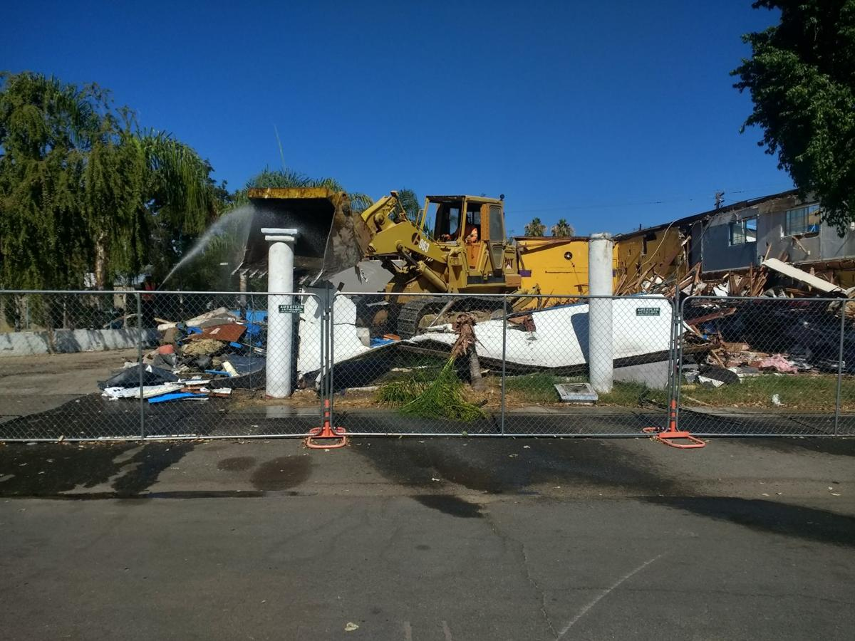 Demolition on The Dome property