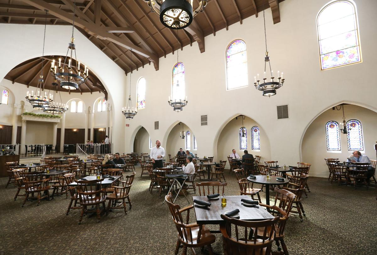 the ivy mediterranean tapas is located in a beautiful old church converted to a restaurant in the 1980s because the former occupant had a members only