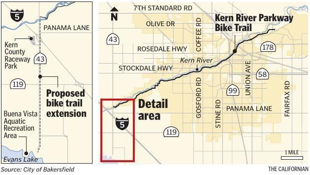 Kern River Bike Path proposed extension
