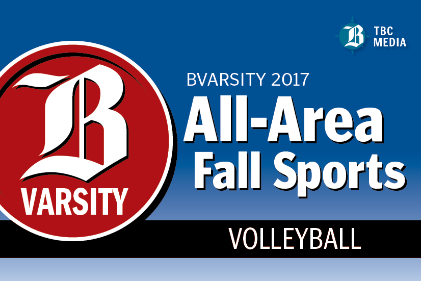 2017 BVarsity All-Area Volleyball Teams graphic