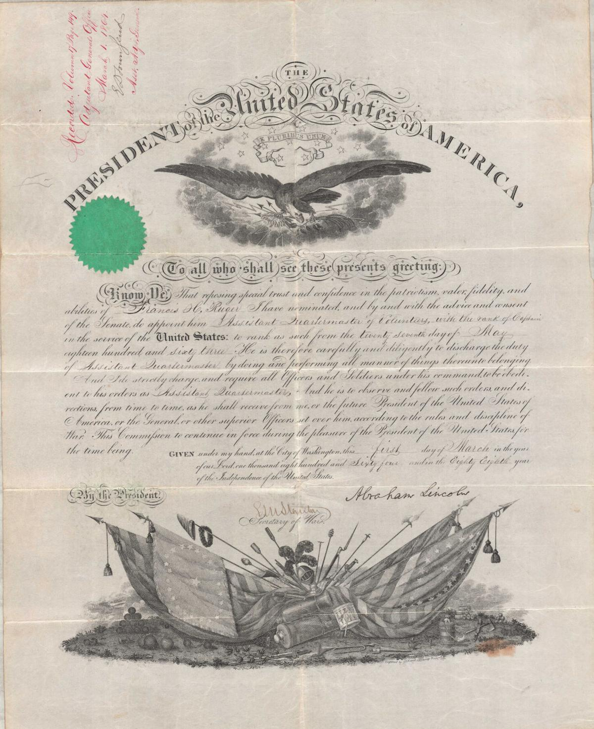 Lincoln Document 1864