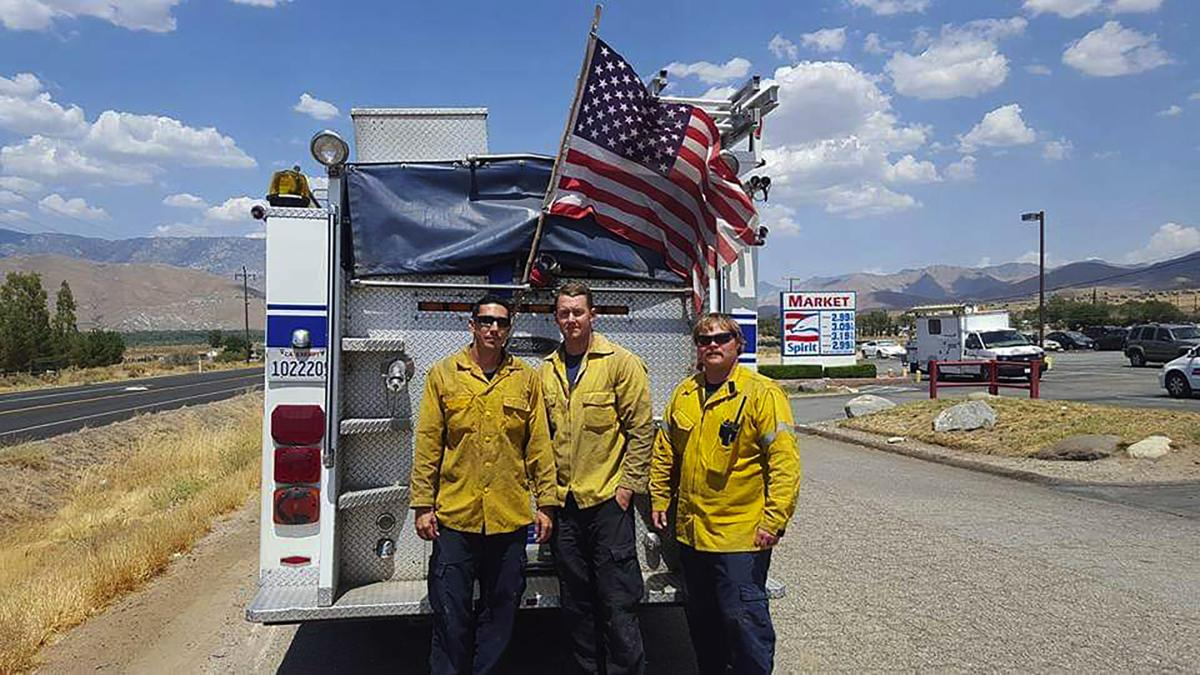 Kern County firefighters save flag