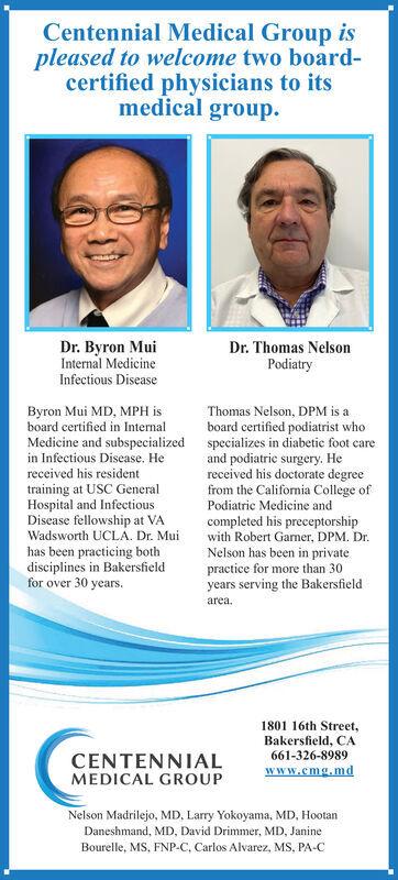 Centennial Medical Group - 10/04/2020