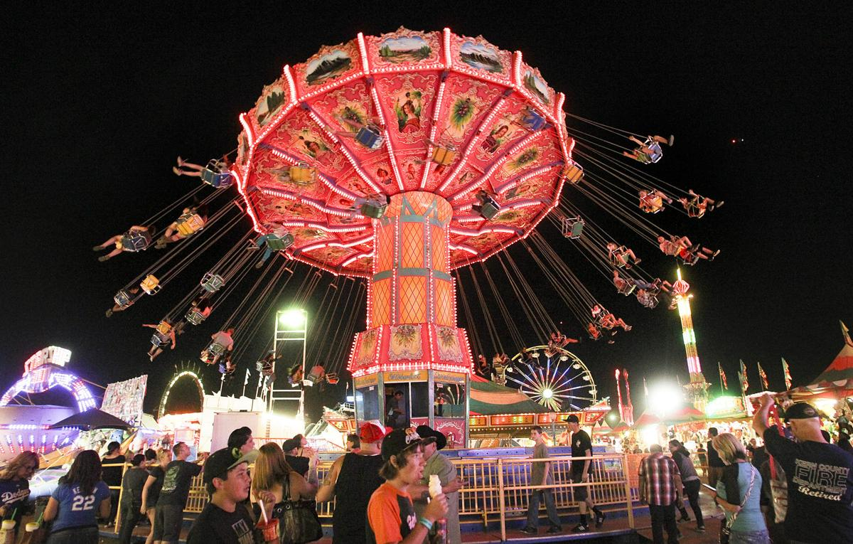 Night Time At The Kern County Fair
