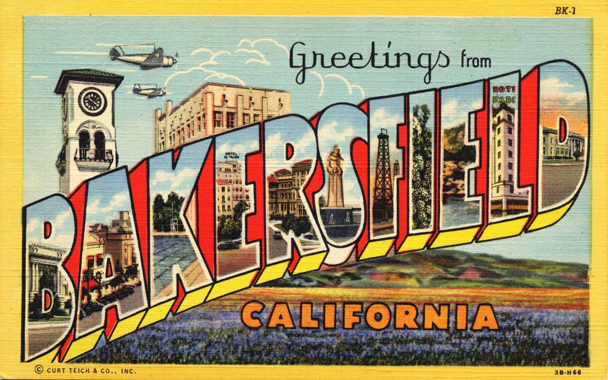 Vintage postcards greetings from bakersfields past archives greetings from bakersfield postcard m4hsunfo Gallery