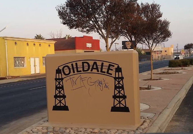 Oildale sign