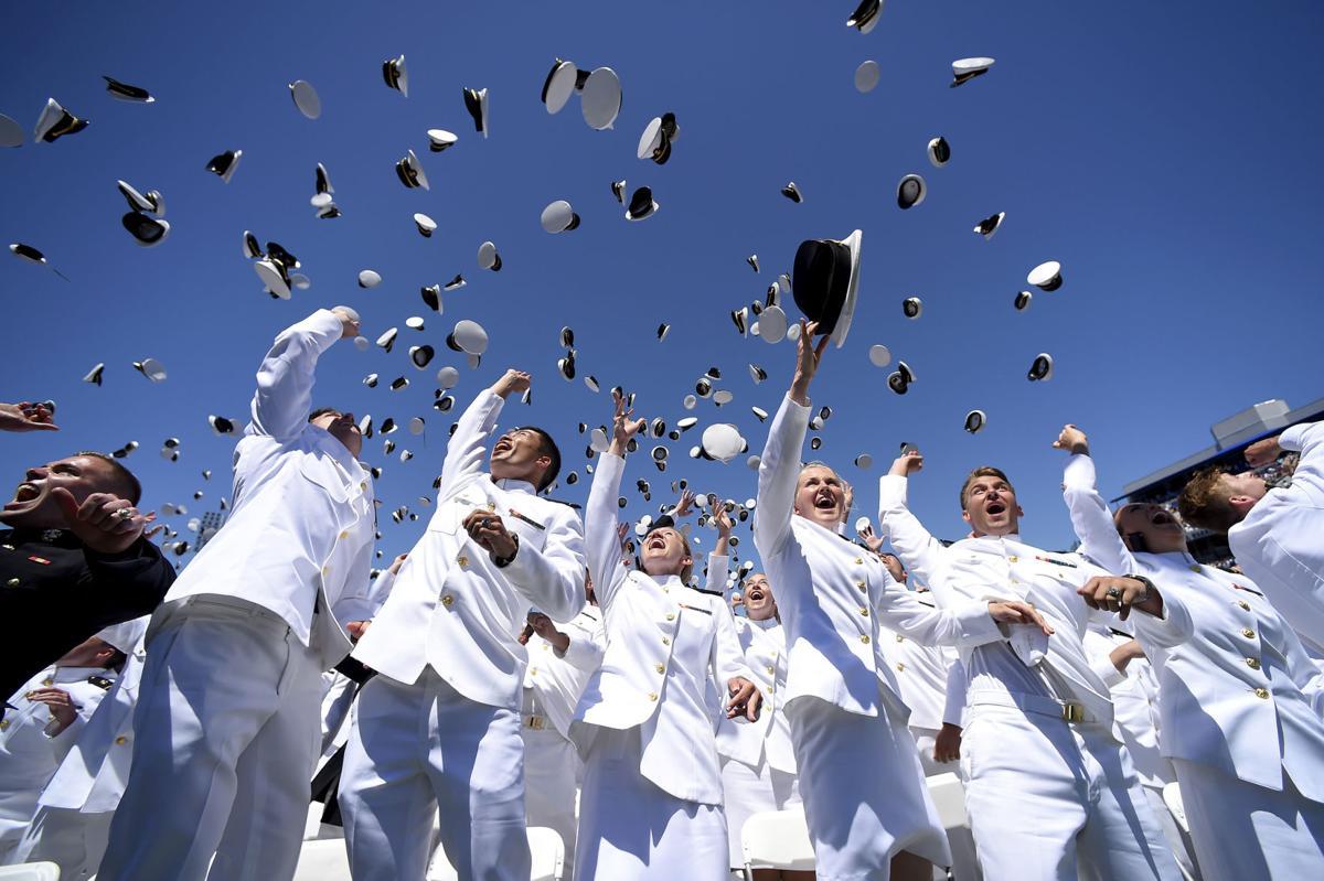 APTOPIX Naval Academy Graduation