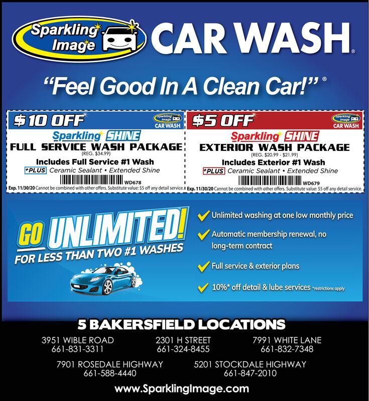Sparkling Image Car Wash - 10/04/2020