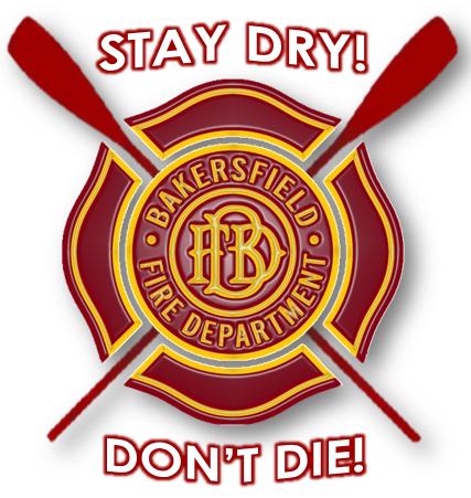 Bakersfield Fire Department's river warning logo