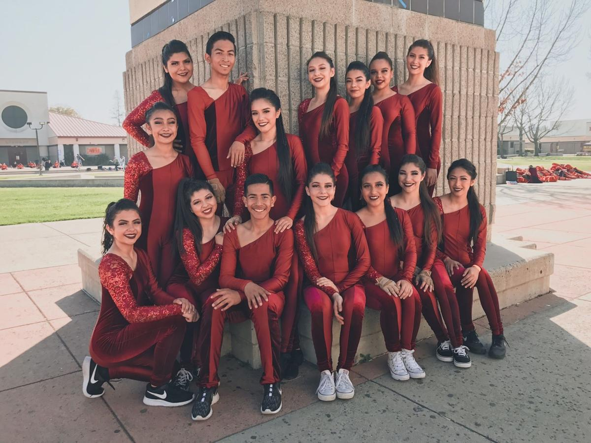 Golden Valley High 's colorguard team