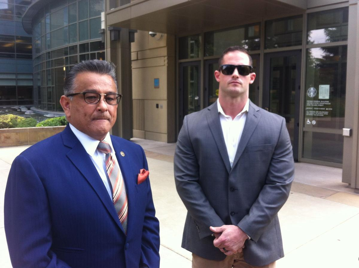 Logan August in federal court May 15