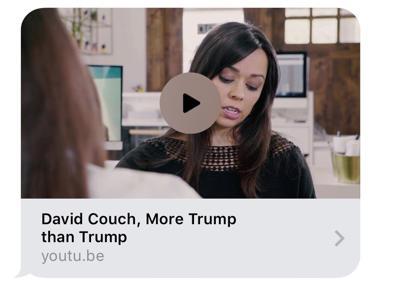 "Political attack ad called David Couch ""More Trump than Trump"""