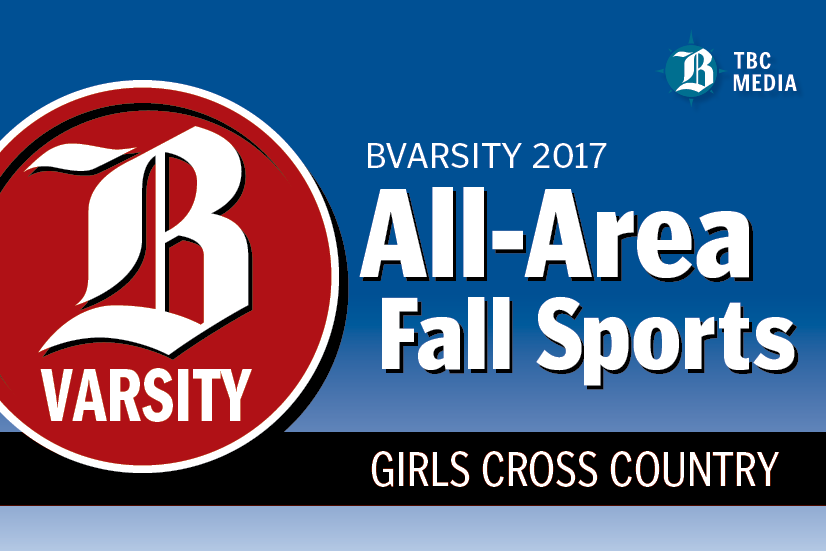 2017 BVarsity Girls Cross Country All-Area Team graphic