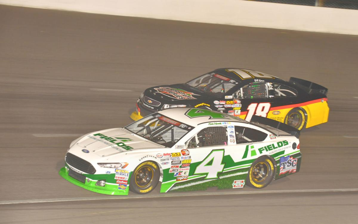Wild final restart upends Harvick's  quest for win at KCRP, lands Kruse in victory lane