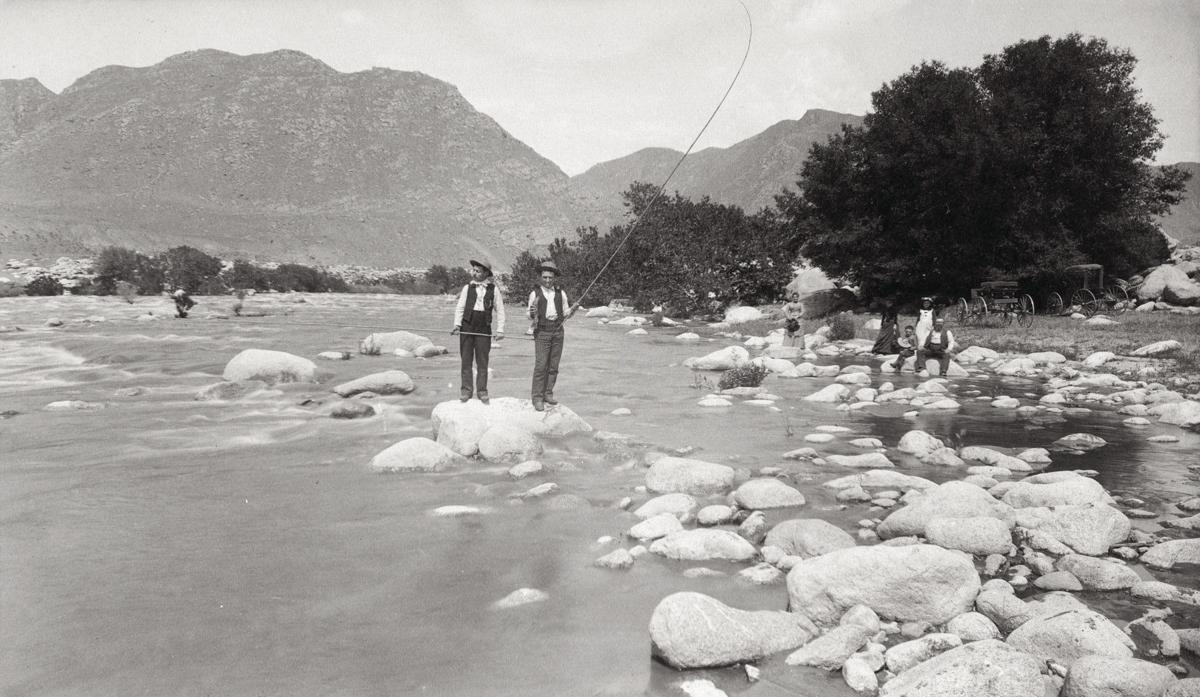 18 - Two men fishing in the Kern River, circa 1900.jpg 150th