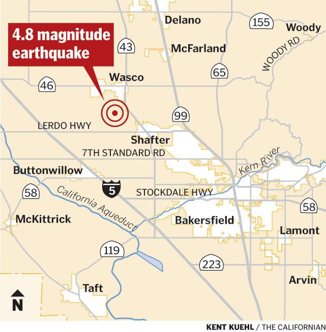 4.8 mag earthquake