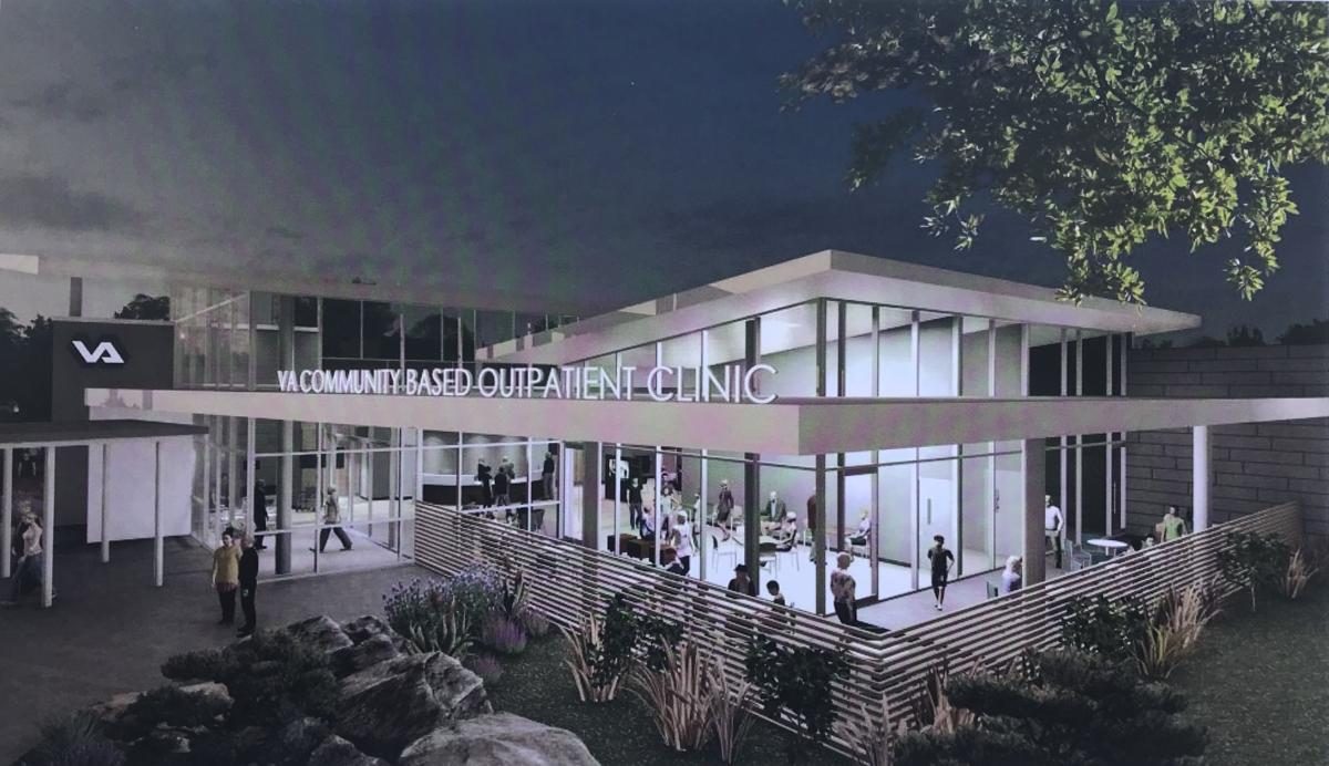 Rendering of state-of-the-art veterans clinic