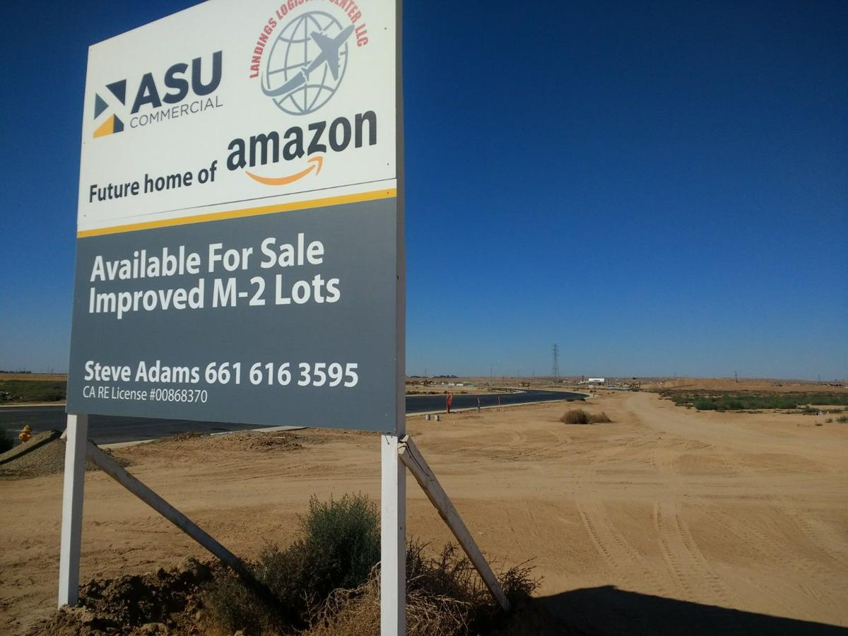 Future home of Amazon center in Kern County
