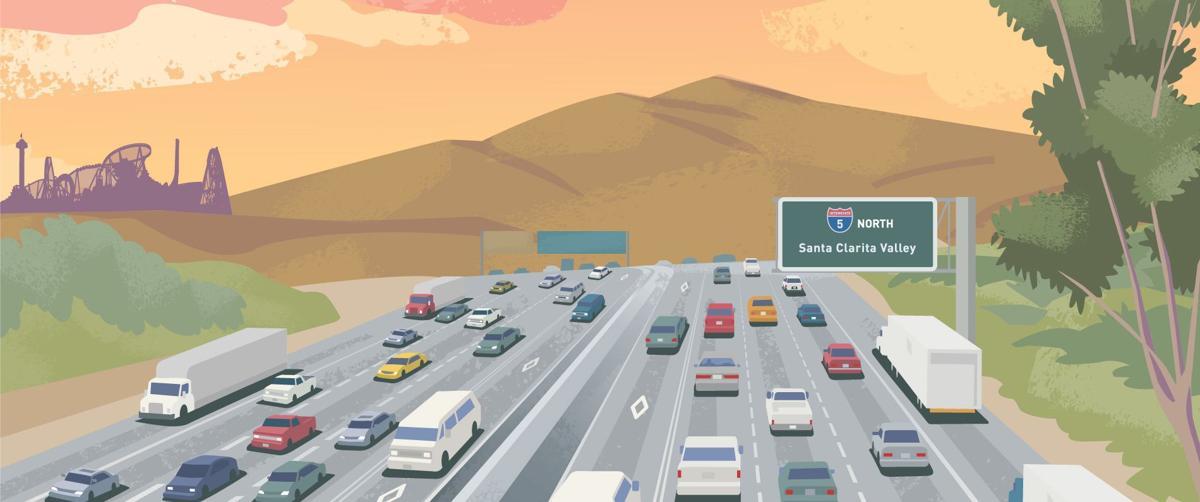 Interstate 5 through Santa Clarita