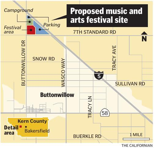 Music and arts festival map