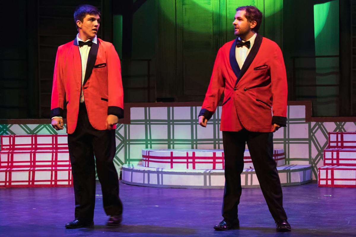 years after the war bob wallace kyle ball and phil davis jacob chivington have a popular song and dance act in white christmas at stars - White Christmas Snow Song