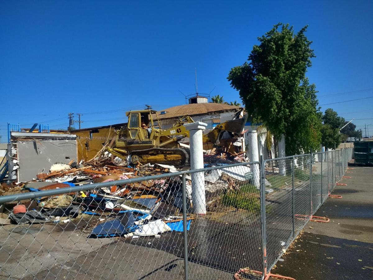 Demolition next to The Dome